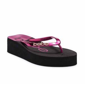 4aefe89dda9 bebe Shoes - NWT Bebe Jeanie Platform Thong Sandal